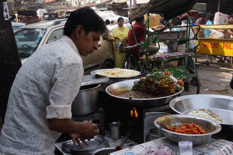Street food in Old Delhi.