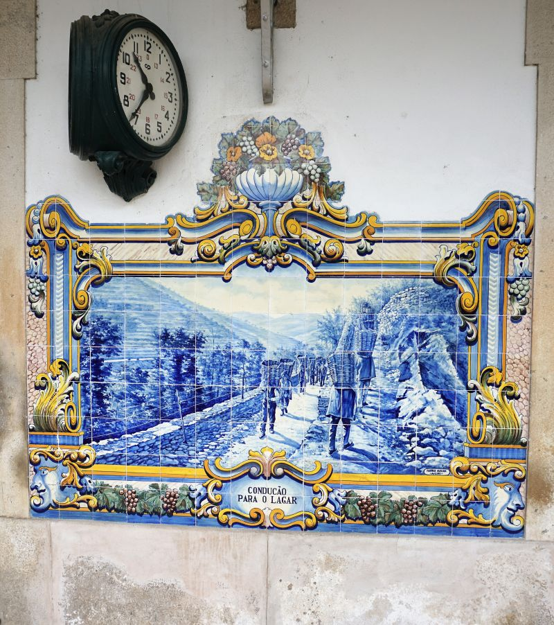 Pinhão station: the azulojos are unique.