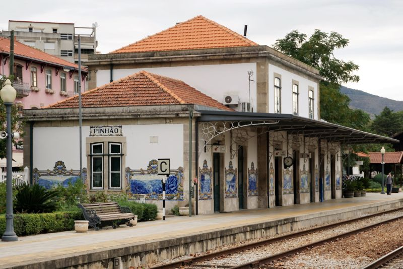 Pinhão station: a good destination to reach the Douro valley.