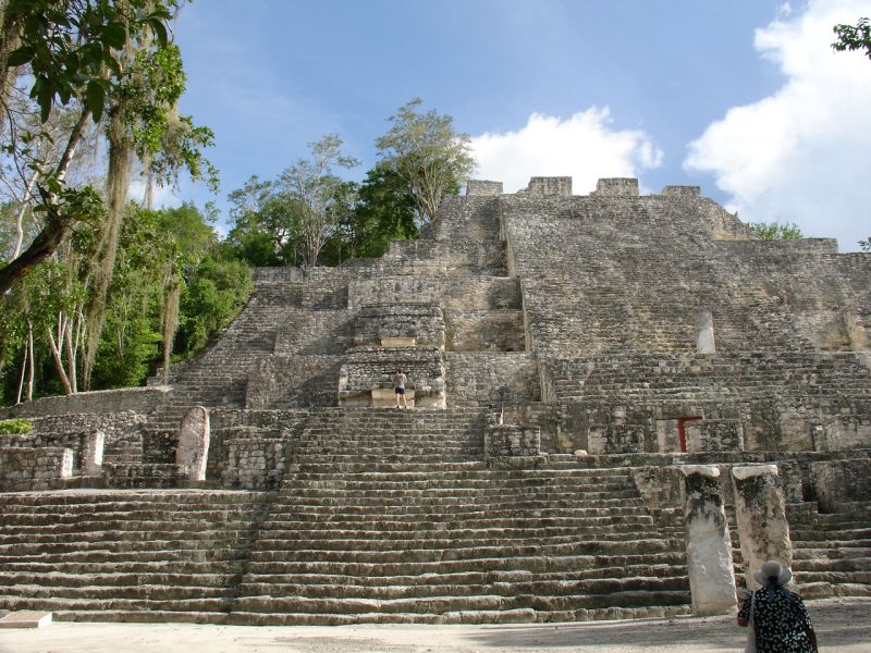 calakmul overgrown pyramid